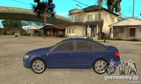 Audi S6 Limousine V1.1 для GTA San Andreas вид слева