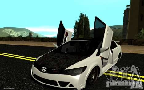 Honda Civic Type R для GTA San Andreas вид сверху