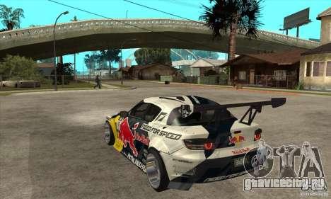 Mazda RX8 NFS Team Mad Mike для GTA San Andreas вид сзади слева