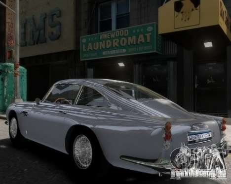 Aston Martin DB5 Vantage BETA для GTA 4 вид слева