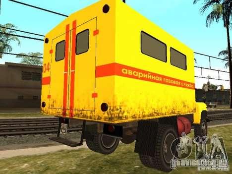 ГАЗ 53 для GTA San Andreas вид сзади слева