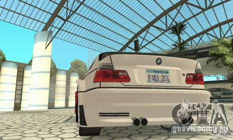 BMW M3 Tunable для GTA San Andreas салон