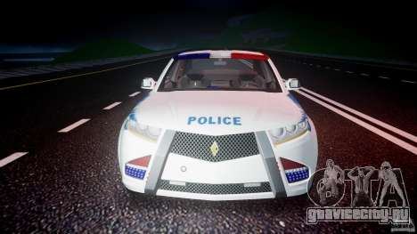 Carbon Motors E7 Concept Interceptor NYPD [ELS] для GTA 4 вид снизу