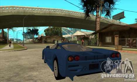 Saleen S7 v1.0 для GTA San Andreas вид сзади слева