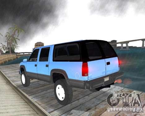 Chevrolet Suburban 1996 для GTA Vice City вид слева