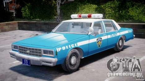 Chevrolet Impala Police 1983 v2.0 для GTA 4 вид изнутри
