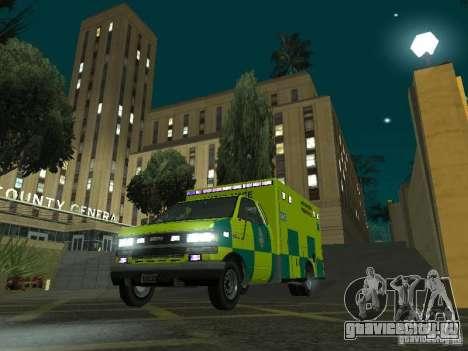 London Ambulance для GTA San Andreas вид сзади