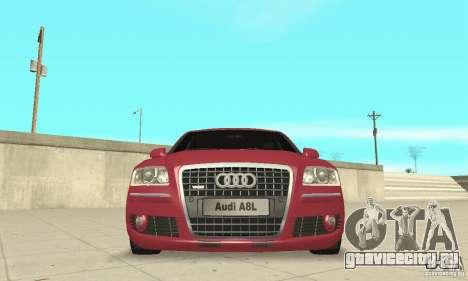 Audi A8L 4.2 FSI для GTA San Andreas вид снизу