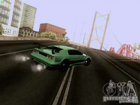 Lotus Esprit V8 для GTA San Andreas вид изнутри