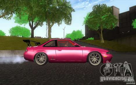 Nissan Silvia S14 Zenkitron для GTA San Andreas вид изнутри