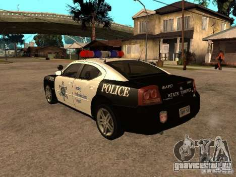 Dodge Charger RT Police для GTA San Andreas вид слева