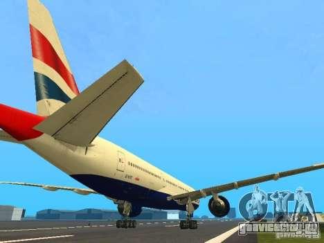 Boeing 777-200 British Airways для GTA San Andreas вид справа