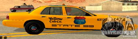 Ford Crown Victoria 2003 Taxi for state 99 для GTA San Andreas вид слева