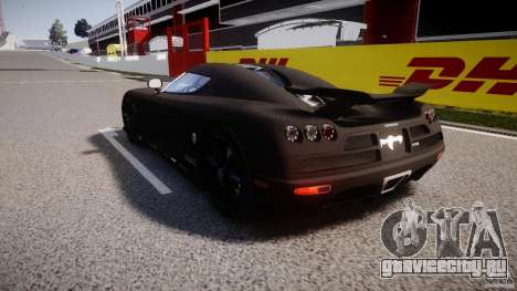 Koenigsegg CCXR Edition для GTA 4 вид сзади слева