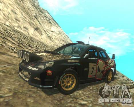 Subaru Impreza WRX STI DIRT 2 для GTA San Andreas вид сбоку