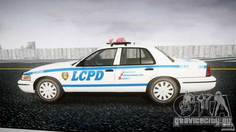 Ford Crown Victoria Police Department 2008 LCPD для GTA 4 вид слева