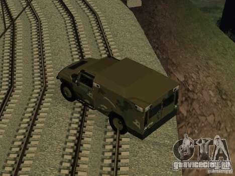 Hummer H2 Army для GTA San Andreas вид справа