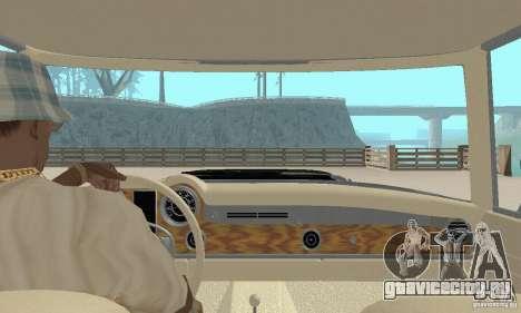 Mercedes-Benz 280SL (глянцевый) для GTA San Andreas вид изнутри
