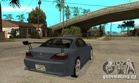 Nissan Silvia S15 Tun для GTA San Andreas вид справа