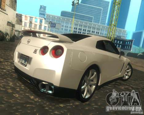 Nissan GTR R35 Spec-V 2010 Stock Wheels для GTA San Andreas вид справа