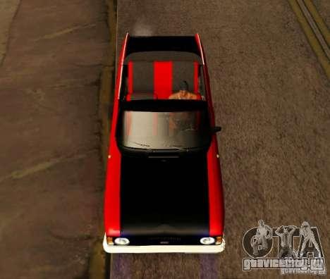 Москвич 412 Cabrio для GTA San Andreas вид сзади слева