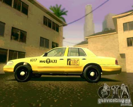 Ford Crown Victoria 2003 NYC TAXI для GTA San Andreas вид сзади слева