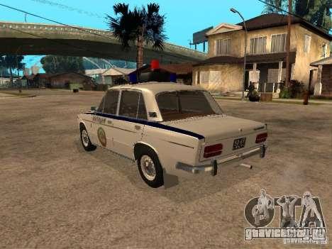Ваз 2103 Милиция для GTA San Andreas вид слева