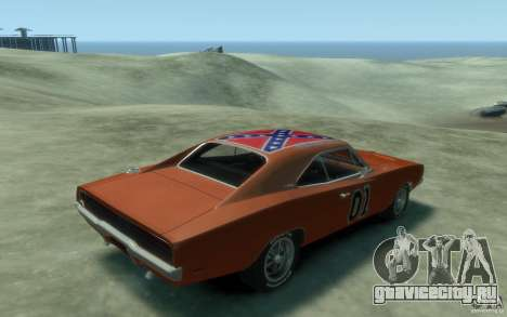 Dodge Charger General Lee v1.1 для GTA 4 вид справа