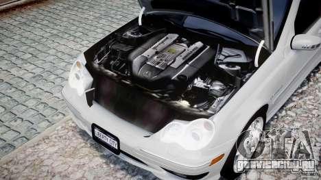 Mercedes-Benz C32 AMG 2004 для GTA 4 вид изнутри