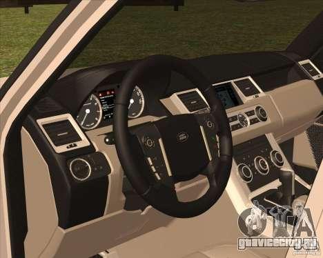 Range Rover Sport 2012 для GTA San Andreas вид сзади