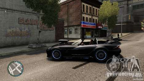Blue Neon Banshee для GTA 4 вид слева