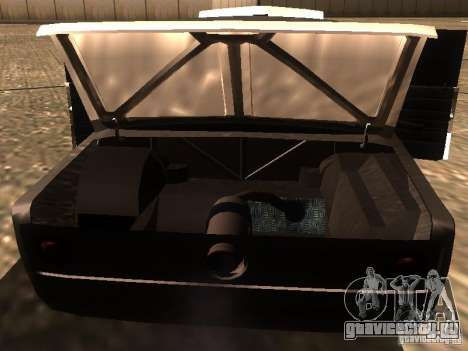 ВАЗ 2106 Drag Racing для GTA San Andreas вид снизу