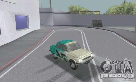 ЗАЗ 968м побитый для GTA San Andreas вид изнутри