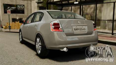 Nissan Sentra S 2008 для GTA 4 вид сзади слева