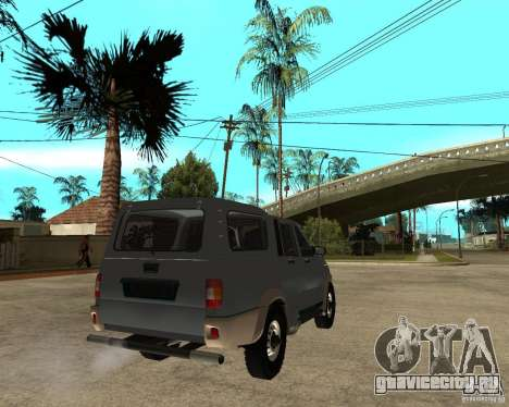 УАЗ Симбир Пикап для GTA San Andreas вид сзади слева