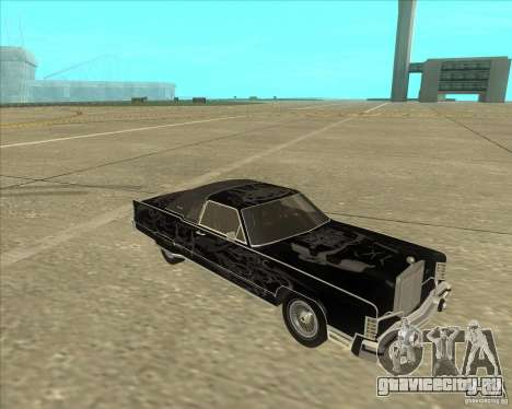 Lincoln Continental Town Coupe 1979 для GTA San Andreas вид сзади