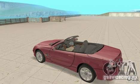 Mercedes-Benz SL500 (R230) для GTA San Andreas вид сзади