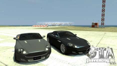 Aston Martin Volante DB9 для GTA 4 вид сзади