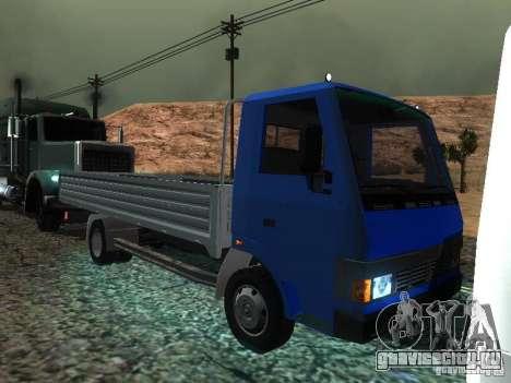 БАЗ Т-713 для GTA San Andreas вид изнутри