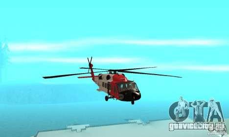 HH-60 Jayhawk USCG для GTA San Andreas вид изнутри
