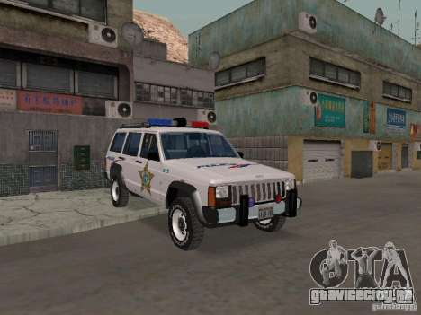 Jeep Cherokee Police 1988 для GTA San Andreas
