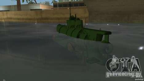 Seehund Midget Submarine skin 1 для GTA Vice City вид сзади слева