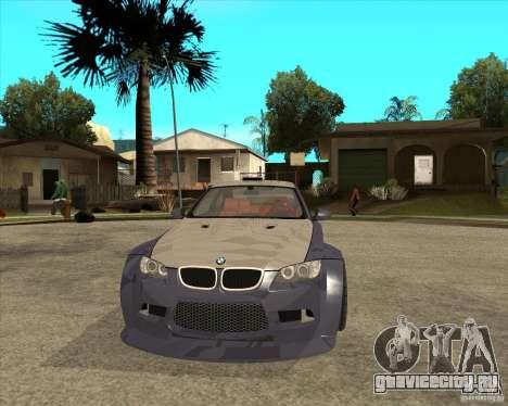 BMW M3 E92 TUNED для GTA San Andreas вид сзади
