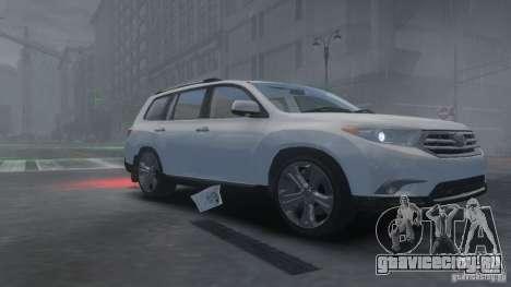 Toyota Highlander 2012 v2.0 для GTA 4 вид слева