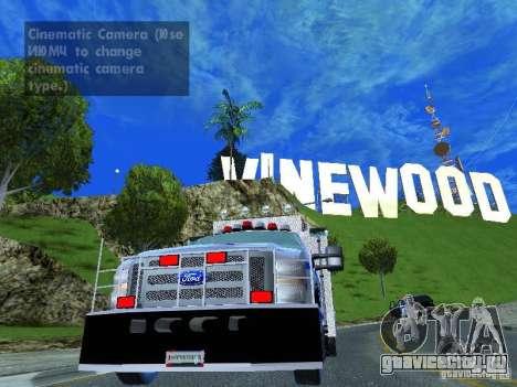 Ford F350 REP Truck для GTA San Andreas вид сзади слева