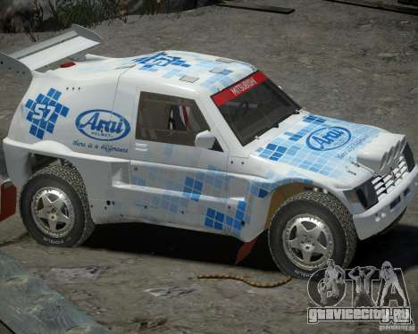 Mitsubishi Pajero Proto Dakar EK86 винил 3 для GTA 4 вид сзади слева