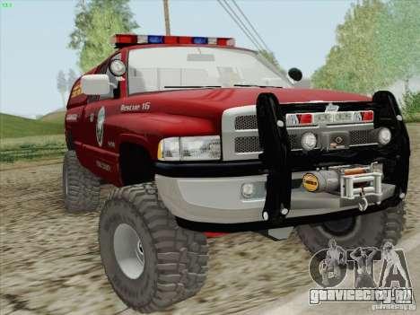 Dodge Ram 3500 Search & Rescue для GTA San Andreas вид изнутри