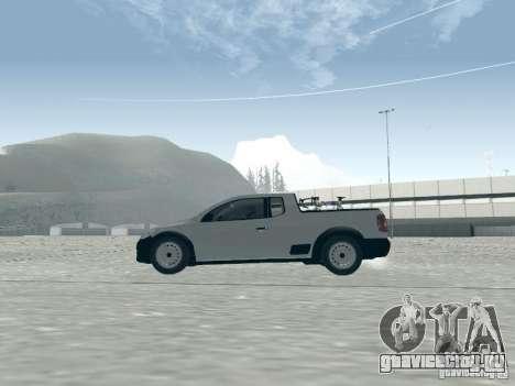 Volkswagen Saveiro 1.6 2009 для GTA San Andreas вид сзади слева