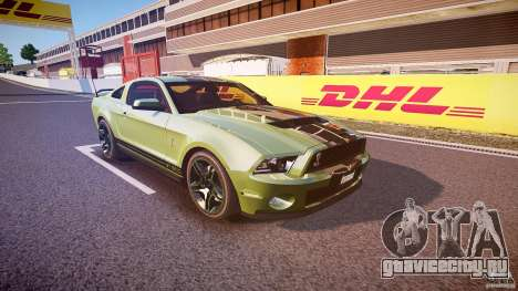 Ford Mustang Shelby GT500 2010 (Final) для GTA 4 вид изнутри