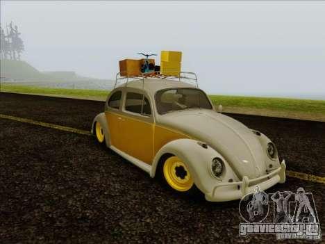 Volkswagen Beetle Edit для GTA San Andreas вид сзади слева